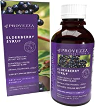 European Black Elderberry Syrup, 4.0 Ounce - Original Immunity Formula with Zinc and Optimal Polyphenol Levels - Supports Healthy Immune Response - Provezza Laboratories