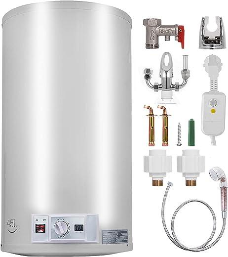 FlowerW Elektrischer Warmwasserbereiter 1 kW / 2 kW Elektrischer Durchlauferhitzer 68 L Temperatureinstellbereich 30-75 ℃ 0,7 MPA Wasserdruck mit…