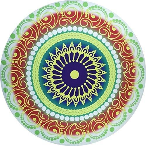 Heliansheng Toalla de Playa Redonda de Microfibra Mandala Tapiz Toalla de baño de natación Bohemia -11-Gasa