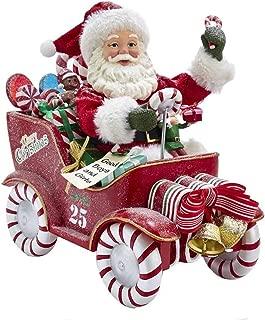 Kurt Adler Kurt S. Adler 8.5-Inch Fabriché Musical Candy Car Santa, Multi