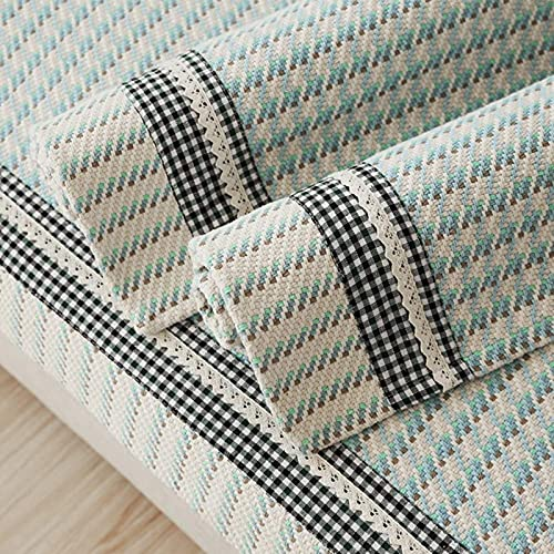 HZYDD Cubiertas de sofá Sofá Sofá Sofá Muebles Protector Azul Teas Seasons Grid Nordic Simple Sofá Moderno Sistemas 1pc-A 90x210cm (35x83 Pulgadas)