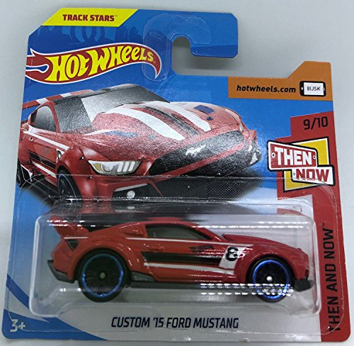 Hot Wheels 2018 Custom \'15 Ford Mustang Red 9/10 Then and Now 96/365 (Short Card)