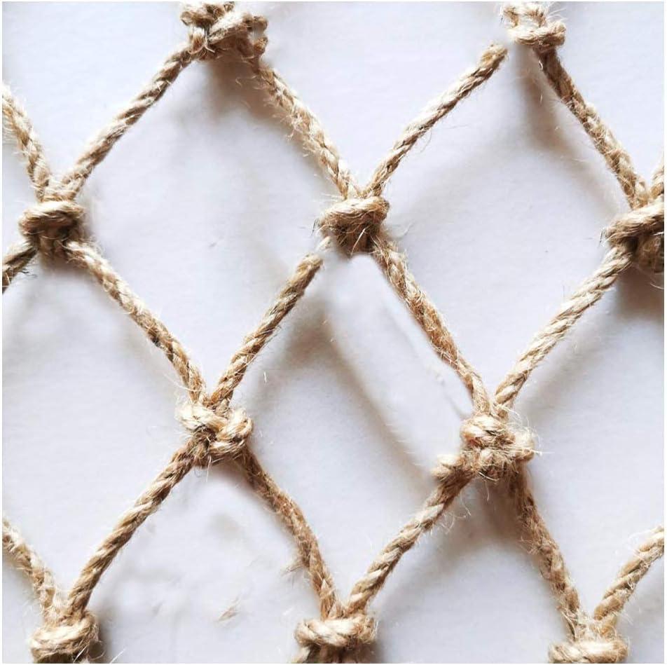 Hemp Rope Net Anti-Wear Max 57% OFF Balcony Gar Fence Max 86% OFF Railing Protection