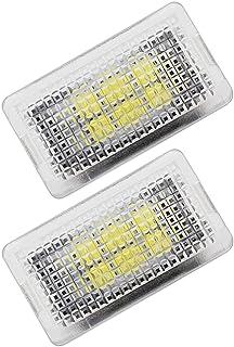 FAVOMOTO 2 peças de lâmpadas interiores de carro, porta-malas de automóvel, acessórios de iluminação LED