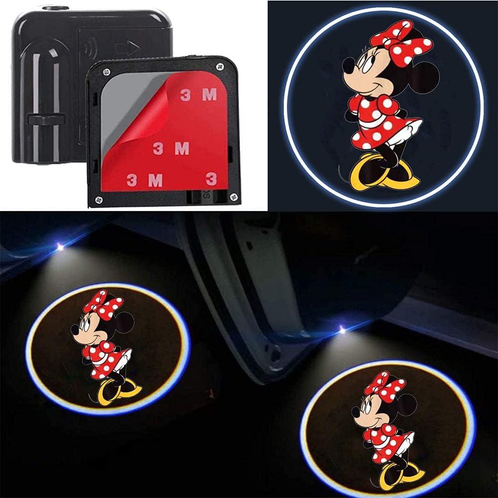 2Pcs for Car Door Lights Bargain Led Minnie Projector Logo online shopping