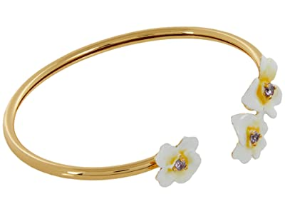 Kate Spade New York Precious Pansy Enamel Flex Cuff (Yellow Multi) Bracelet