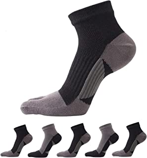 Toe Socks Five Finger Socks Mini Crew Athletic Running Socks for Men [5-Pack]