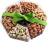Holiday Nuts Gift Basket | Large 7-Sectional Delicious Variety Mixed Nuts Prime Gift | Healthy Fresh Gift Idea For Christmas, Easter, Mothers & Fathers Day, And Birthday By Nut Cravings