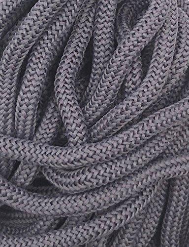 Slantastoffe 5m Kordel 4mm, Schnur, Turnbeutel, 22 Farben (Grau)