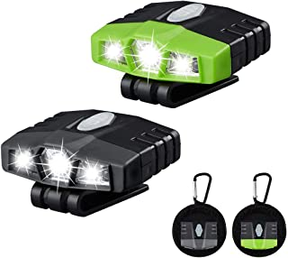 Ultra Bright Mini Hands Free CREE LED Clip on Hat Light - Rechargeable 150 Lumens Lightweight Spotlight Waterproof - Best Cap Light Flashlight Head Lamp For Fishing Running Camping Cycling Hand Work