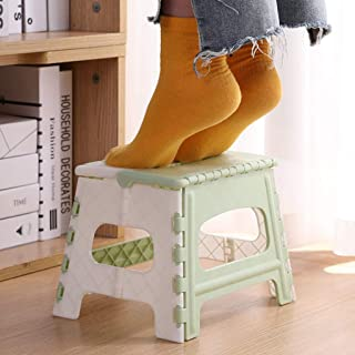Dolloress Folding Step Stool 8.9inch Collapsible Plastic Step Stool with Handle for Kitchen, Bathroom, Bedroom, Kids or Ad...