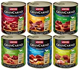 animonda GranCarno Hundefutter, Nassfutter für erwachsene Hunde, verschiedene Sorten, Mix 2, 6 x 800 g