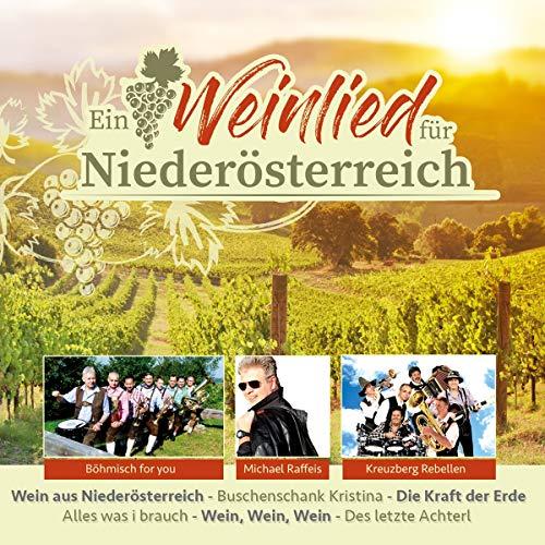 Ein Weinlied für Niederösterreich; Wein aus Niederösterreich; Buschenschank Kristina; Die Kraft der Erde; Alles was i brauch; Wein Wein Wein; Des letzte Achterl