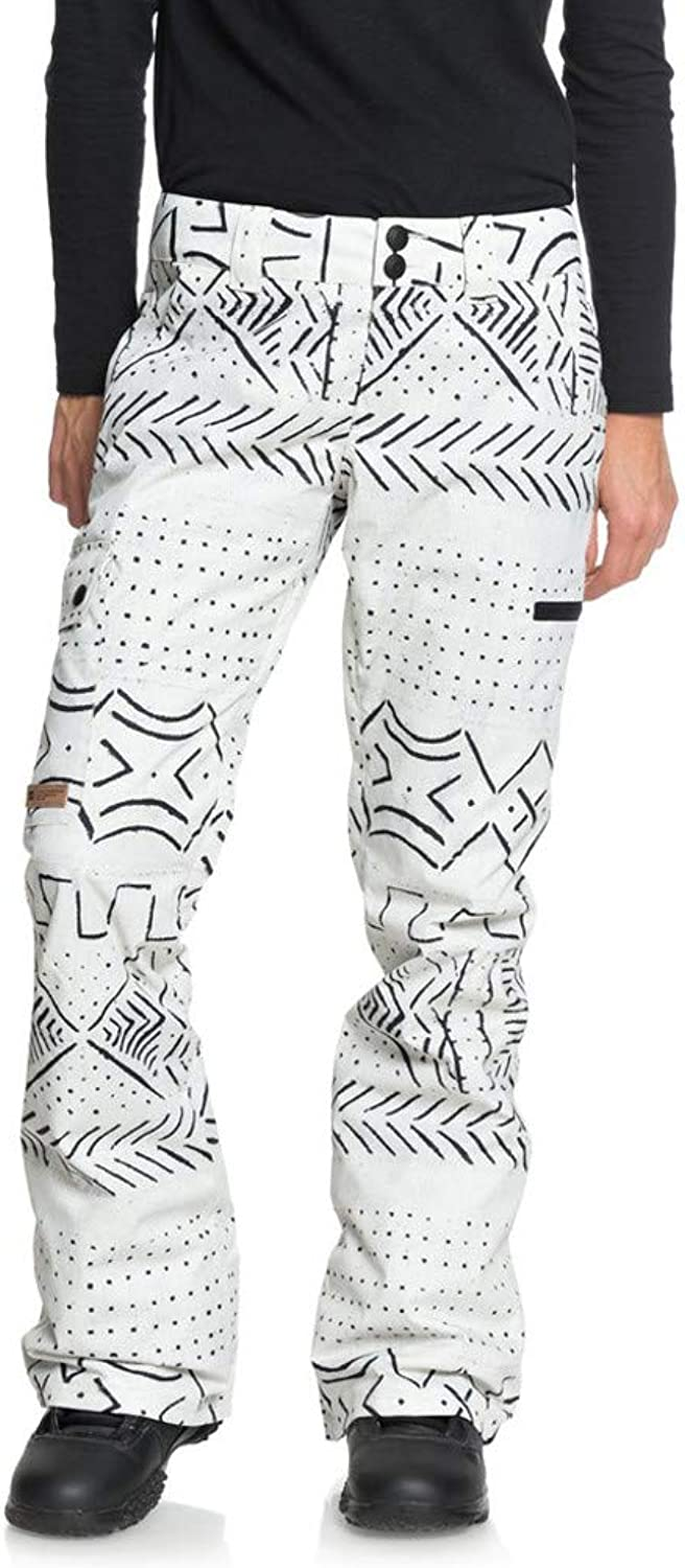 DC Apperal Women's Recruit Snow Pant, Silver Birtch Mud Cloth, Size XSmall
