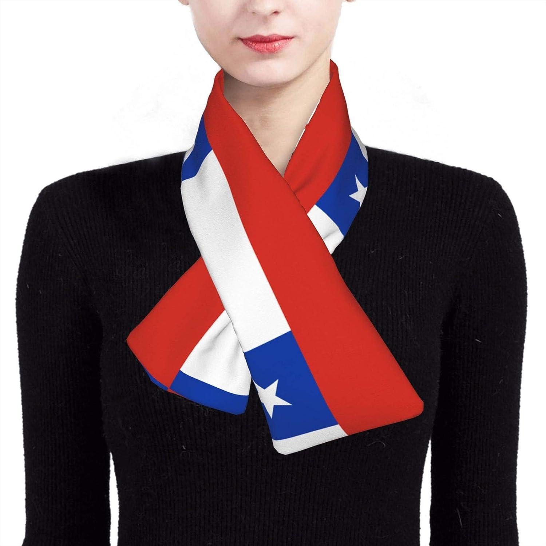 Winter Scarfs Chile Flag Scarves Wraps Neck Warmer Flannel Winter Cross Tie Scarves