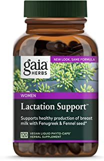 Gaia Herbs Lactation Support, Vegan Liquid Capsules, 120 Count - Lactation Supplement for Breastfeeding Mothers, Supports ...