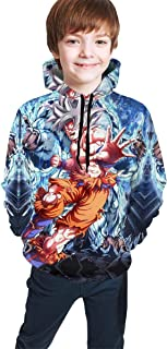 Anime Dragon Ball Boys Girls 3D Print Casual Pullover Hoodie Hooded Sweatshirt Tops Blouse with Pocket 7-20Y