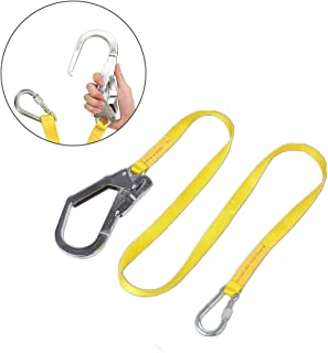 Tower Climbing Tree Care for Arborist Pelican Rope Arborist-16 Adjustable Work Positioning Lanyard with Aluminum Snap Hook 1//2 in ANSI Certified All-In-One Kit Rigging 8 feet