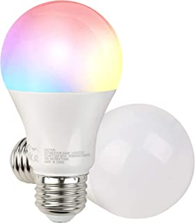 Smart WiFi LED Light Bulb Dimmable Multicolor and Soft White Bulb Compatible with Alexa, Echo, Google Home(No Hub Required) RGB 2700K to 5000K Coloring Changing 6W 1 Pack.