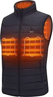 Sponsored Ad - Heated Vest for Men with Battery Pack Included, EAY Lightweight Men's Heated Vest, Perfect for Hunting, Fis...