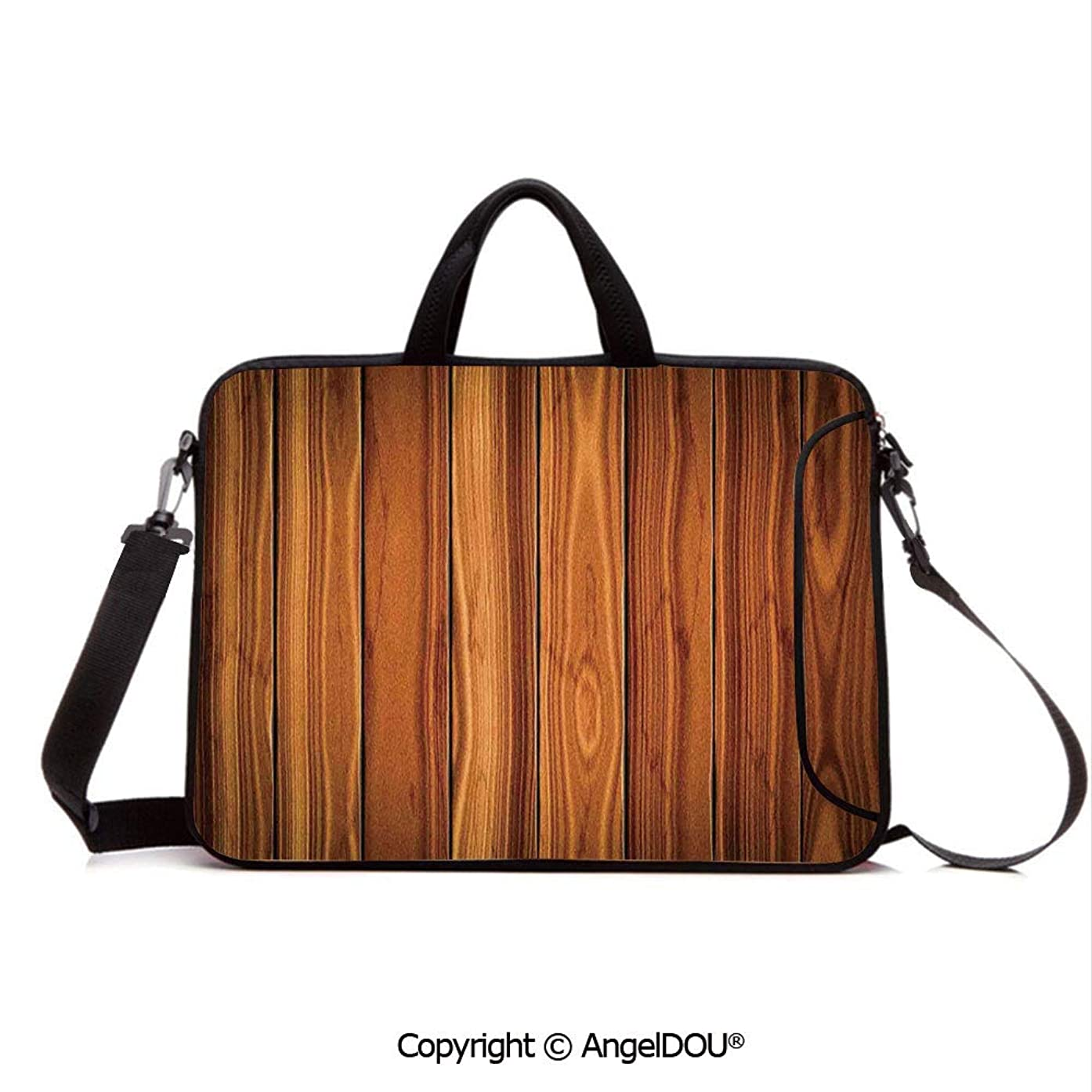 AngelDOU Neoprene Laptop Shoulder Bag Case Sleeve with Handle and Extra Pocket Tall Decorative Bound Wood Line Timber Trunk Red Maple Stem Birch Branch Image Compatible with MacBook/Ultrabook/HP/Ace