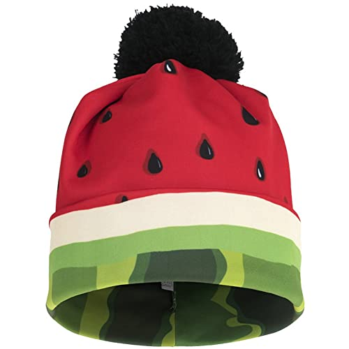 9002a2fbef6 Ababalaya Unisex 3D Print Skullies   Beanies with Pompon