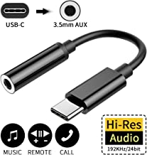 USB C to Audio Adapter for iPad Pro USB Type C to 3.5 mm Headphone Jack Adaptor Type C Adapter Audio Connector for Huawei P30 Pro/P20 Pro/P20/Mate 10 Pro, Xiaomi Mi 8/Mix 3,Samsung Note10(Black)