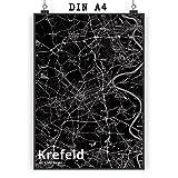 Mr. & Mrs. Panda Poster DIN A4 Stadt Krefeld Stadt Black -