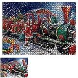 JAWSEU Jigsaw Puzzles,Puzzle de Día de Navidad 1000 Piezas para Adultos para Navidad,Cartón y Puzles,Juguetes Educativos,Juegos de Rompecabezas Grandes,Regalo para Niños y Adolescentes