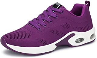 PAMRAY Women's Athletic Running Shoes Tennis Breathable Walking Sneakers Air Gym Sport Fitness