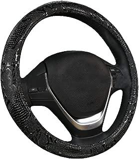 XiXiHao Sculpture Cool Steering Wheel Cover 2019 New for Men (Black)