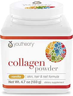 Youtheory Vanilla Collagen Powder, 4.7 Ounce (CP.00376.US)
