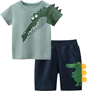 Toddler Boy Summer Clothing Sets Baby Cotton T-Shirt and...