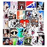 BAIMENG Pegatinas de Perro Pastor Suizo Blanco de Pastor de Animales para Bicicleta DIY, álbum de Recortes, monopatín, Snowboard, Equipaje para Ordenador portátil, 50 unids/Set