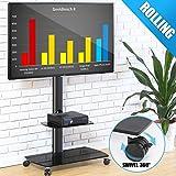 FITUEYES Chariot Meuble TV avec Roulette Support Télé Pied Pivotant pour Ecran de 32 à 65 Pouces LED LCD Plasma avec...