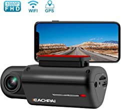 WiFi Dash Cam HD 1080P Car Camera, 150° Wide Angle, Built-in WiFi Dash Cam with Super Capacitor, G-Sensor and GPS, Super Night Vision, Loop Recording, Parking Monitor, Car DVR