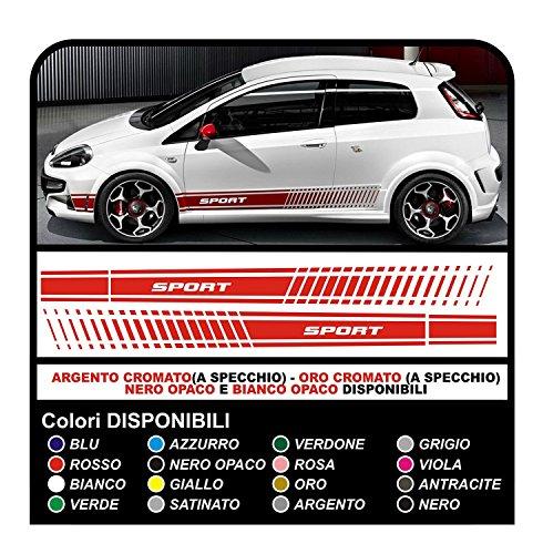GRAFIC Aufkleber Auto Sport Seiten Aufkleber Seite Tuning KIT (Weiss)