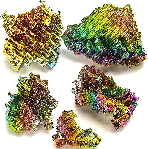 KALIFANO Raw Bismuth Bundle (250 Carats) with Information Card -...