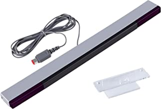 Aokin Sensor Bar for Wii, Replacement Wired Infrared Ray Sensor Bar for Nintendo Wii and Wii U Console, Includes Clear Stand
