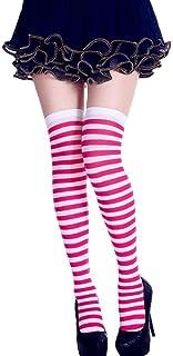 thematys®, thematys Medias de Rodilla de Mujer en 5 diseños Diferentes - Calcetines de diseño Retro de Rayas para niñas y Mujeres (Style 2)