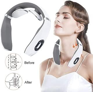 Neck Massager, Smart Neck Massager, Electric Pulse Neck Massager, Electric Neck Massager with Heating Function,Wireless 3D Travel Neck Massage Equipment