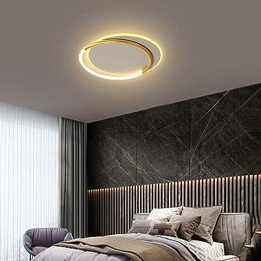 Xungzl Lumière de plafond ronde de montage rond de la couche double couche de ménage, gradation de trois couleurs (3000K-6000
