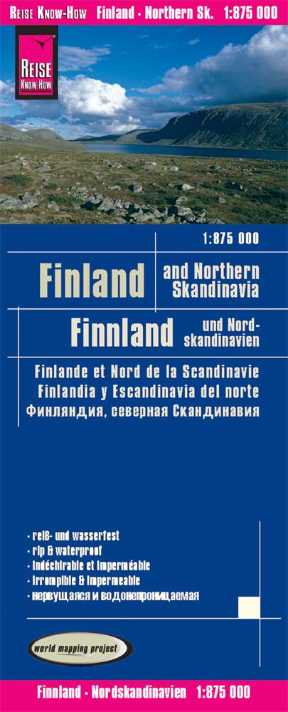 Image OfFinlandia Y Norte De Escandinavia, Mapa De Carreteras Impermeable. Escala 1:850.000. Reise Know-How.: Finland And Northern...