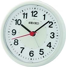 ساعة طاولة بيضاء من سيكو بيب بمينا الكترونية مضيئة- Qhe159hl