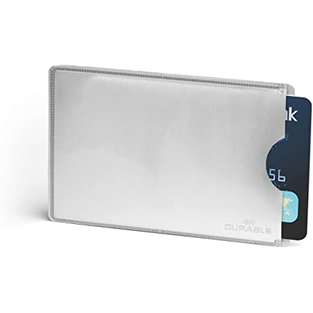 Durable 890023 Kreditkartenhülle Mit Rfid Schutz Beutel à10 Kartenhüllen Silber Bürobedarf Schreibwaren