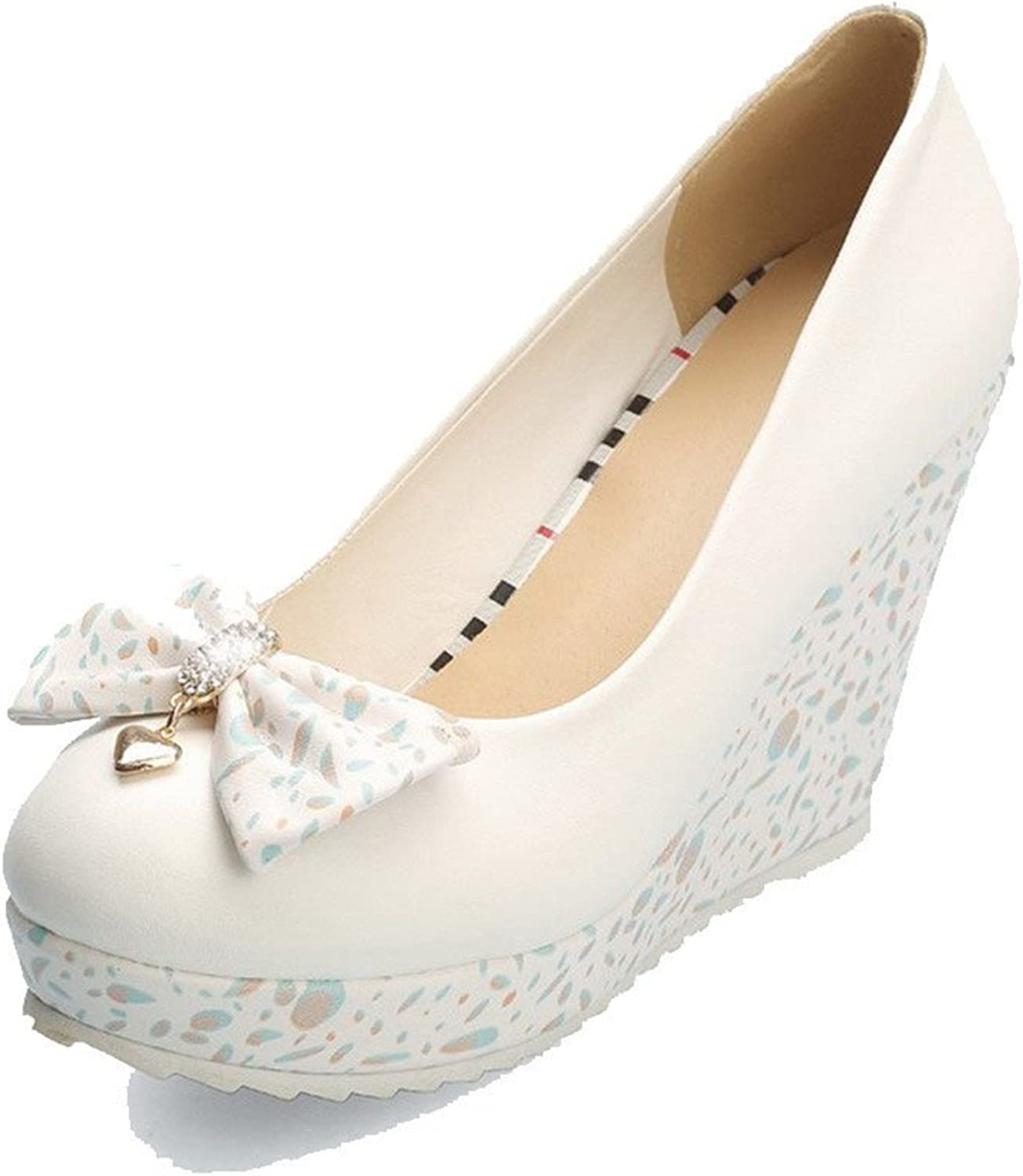 Jean Sche Sweat Women's Round Closed Toe High-Heels Soft Material Solid Pull-on Pumps-shoes