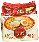 Nissin - Raoh Japanese Instant Ramen Noodles Soy Sauce Taste 17.1oz (For 5 Bowls) by N/A