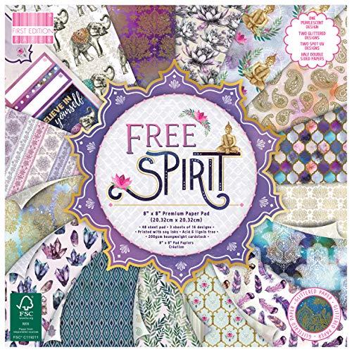 Eerste editie FSC 8x8 papier Spirit-48 vel pad, 200gsm Zwaar gewicht Karton, Zuur & Lignin gratis, Soja-inkt-voor kaart maken, Scrapbooking, Home Decor & Papercraft, Multi kleuren, 8