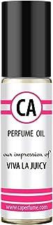 CA Perfume Impression of Viva La Juicy For Women Fragrance Body Oils Alcohol-Free Essential Aromatherapy Sample Travel Size Roll-On 0.3 Fl Oz/10 ml