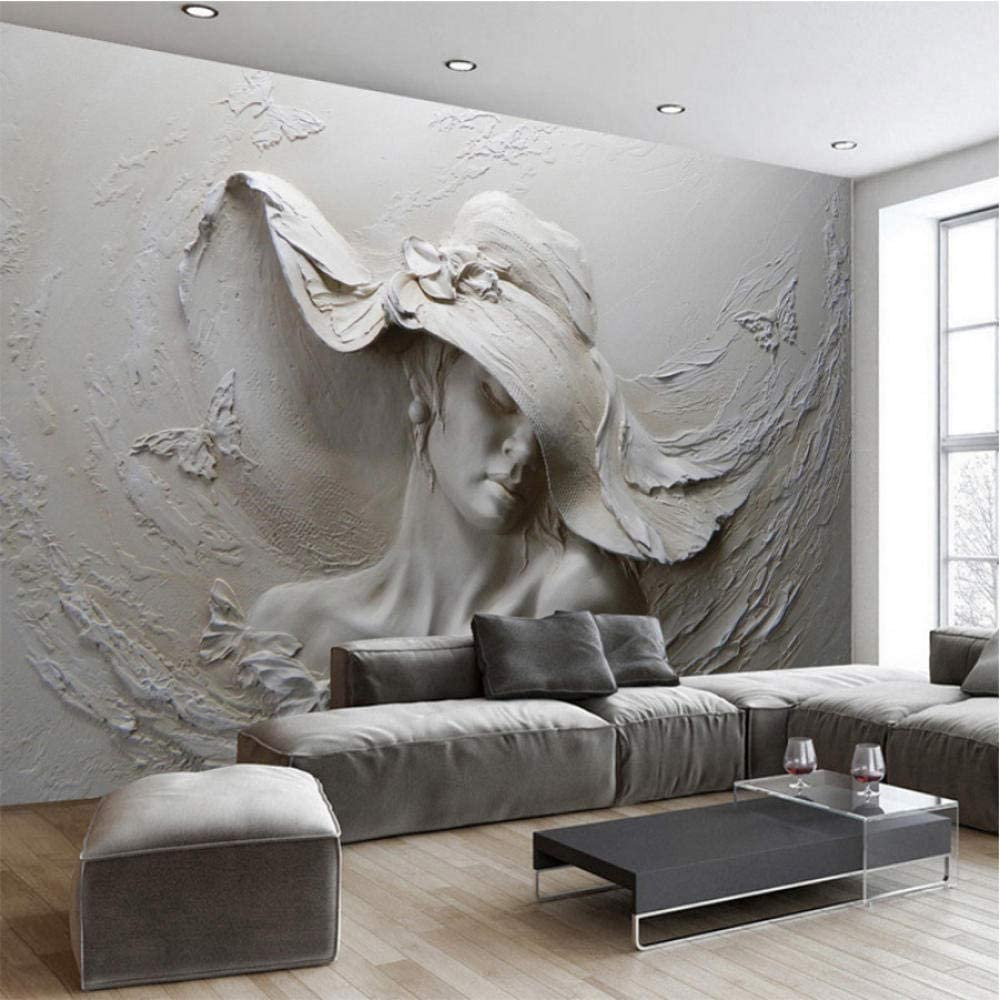 Clhhsy Custom Mural trust Wallpaper 3D Ranking TOP16 Photo Embossed Sculpture Figure